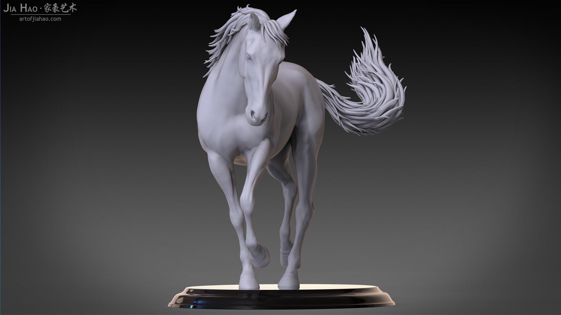 Jia hao horse sculpture comp clay 02