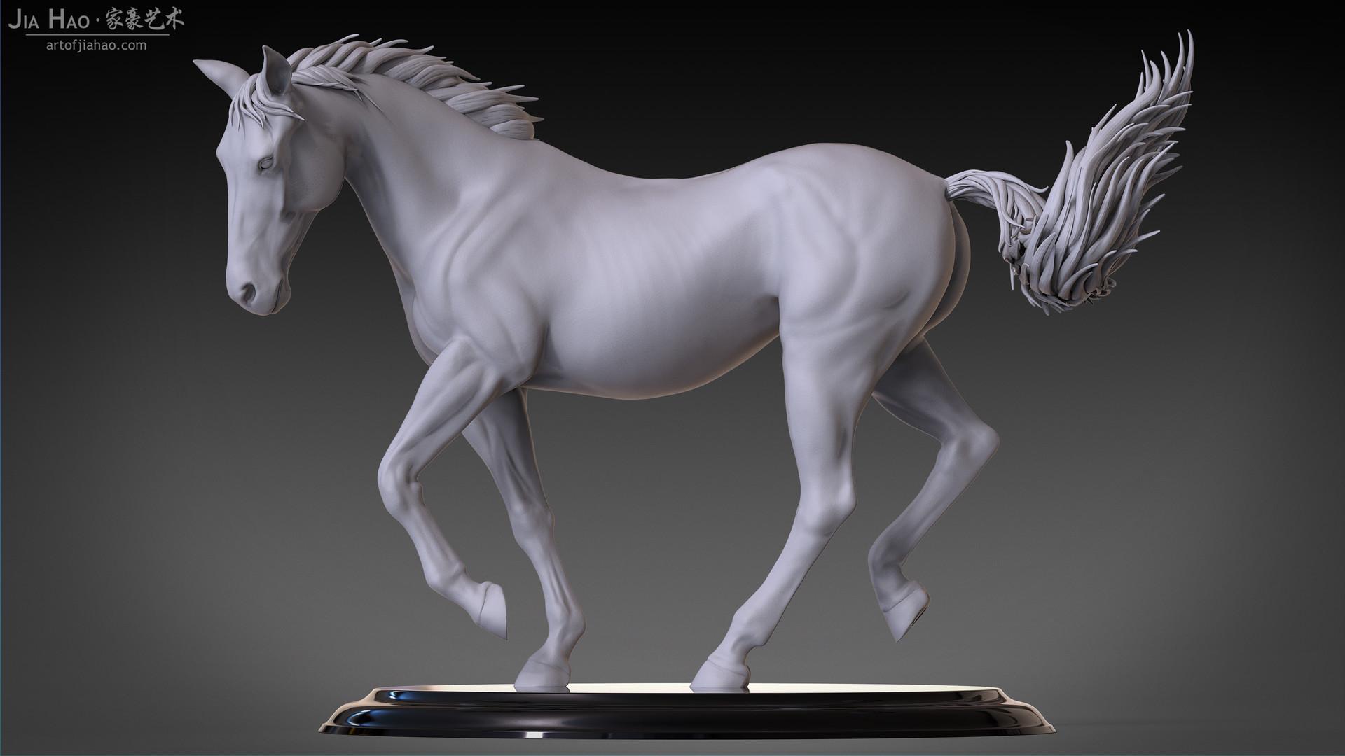 Jia hao horse sculpture comp clay 04