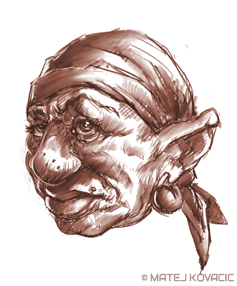 Matej kovacic dwarf grandmother sketch by matej kovacic