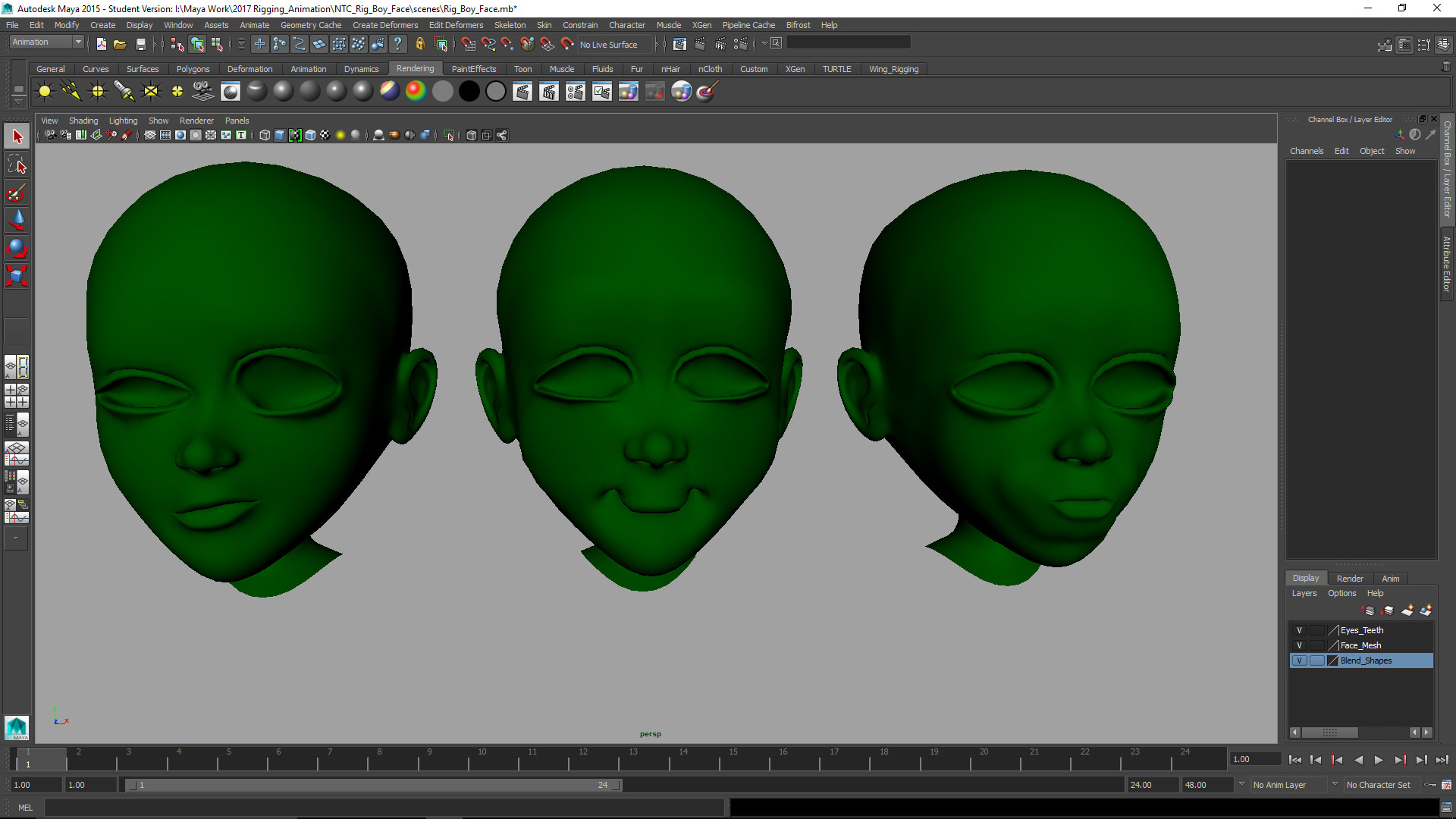 ArtStation - Facial Blend Shapes , Nicholas Cavender