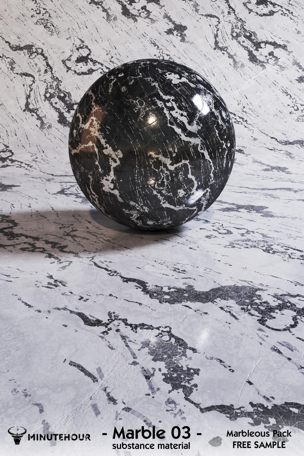 Marble substance texture
