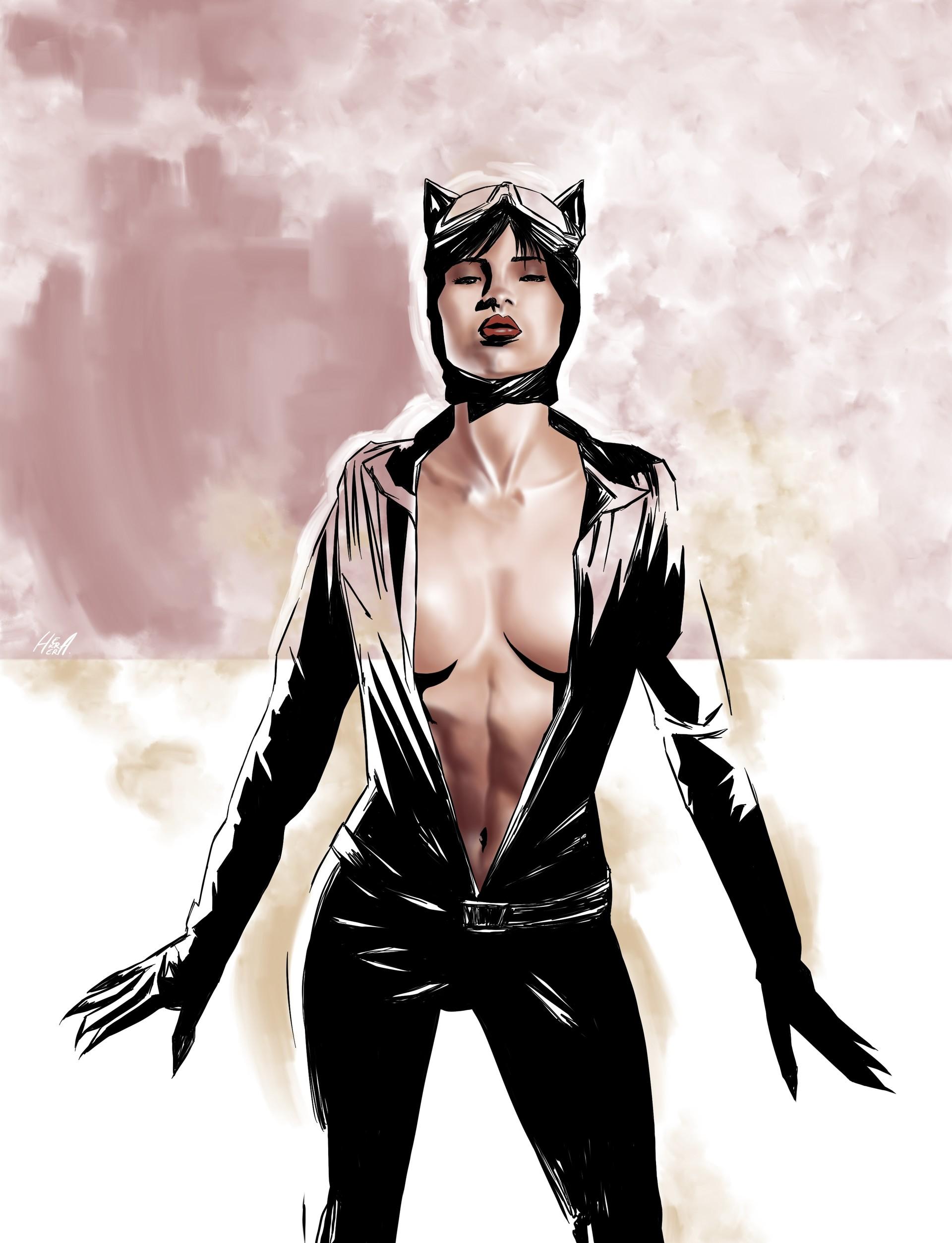 Manuel herrera araya catwoman cuadro