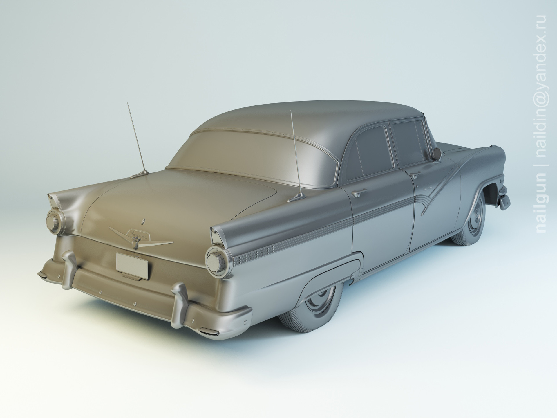 Nail khusnutdinov pwc 001 010 ford fairlane 1956 modelling 1