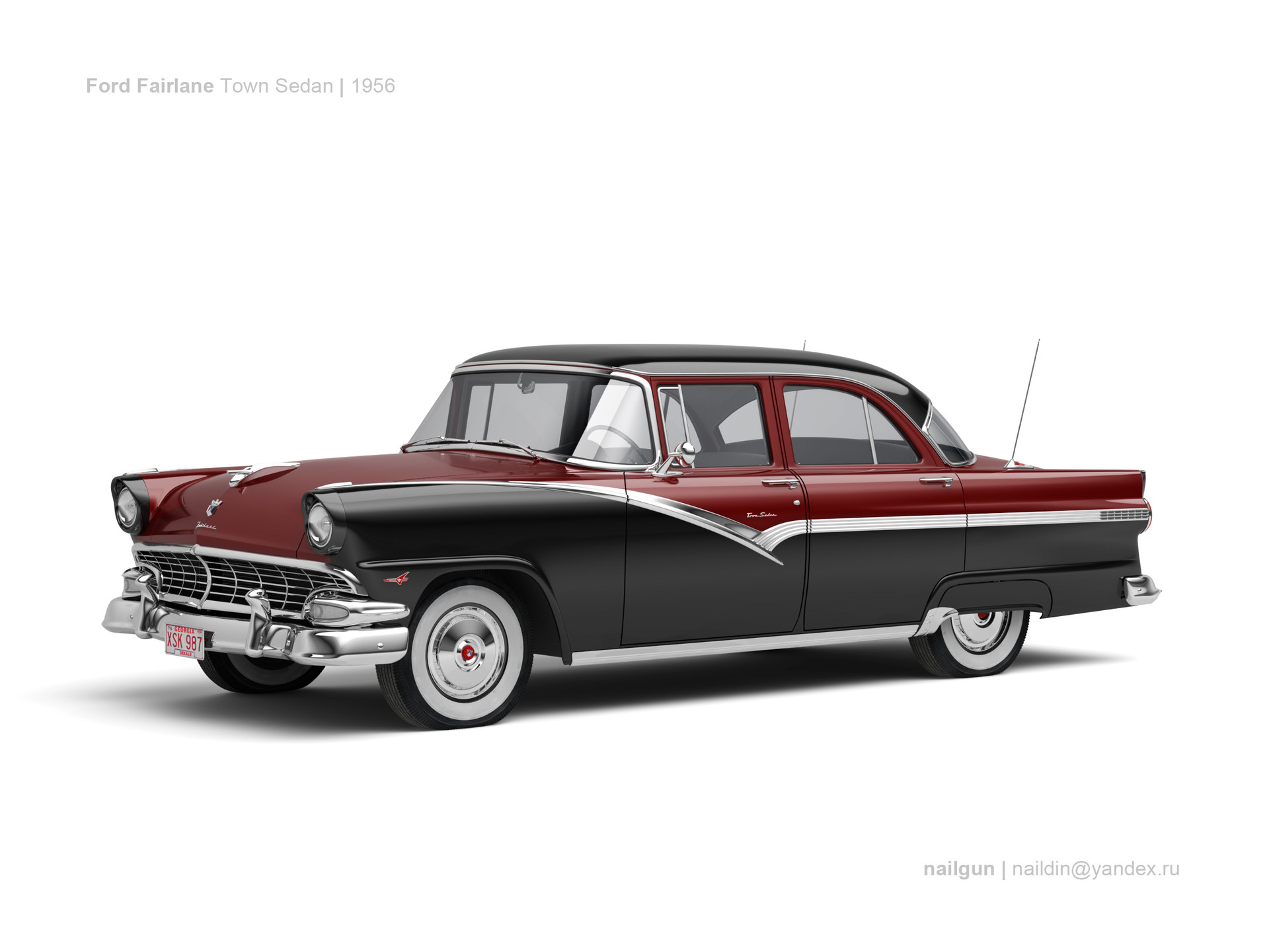 Nail khusnutdinov usa ford fairlane town sedan 56 0