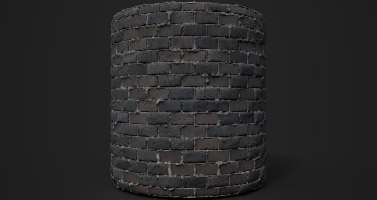 Basement bricks.
