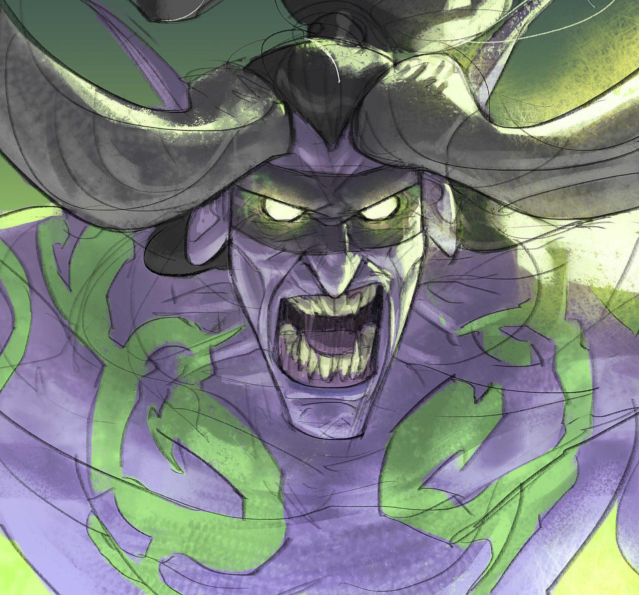"""Illidan Stormrage! :D :D Everytime I draw this kind of buddies I spend the whole process talking with this deep voice and saying random things like """"when I finish this line! YOUR SOUL WILL BE MINE!!' XD"""