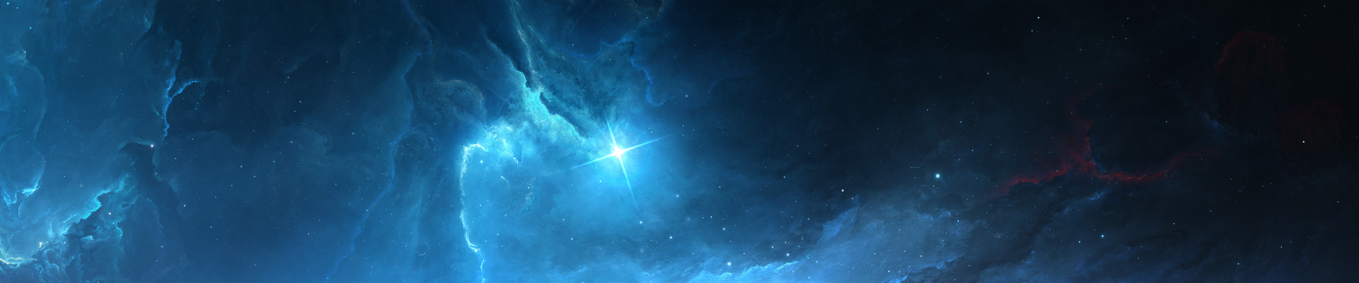 Atlantis Nebula 10 ( Triple Monitor Wallpaper )