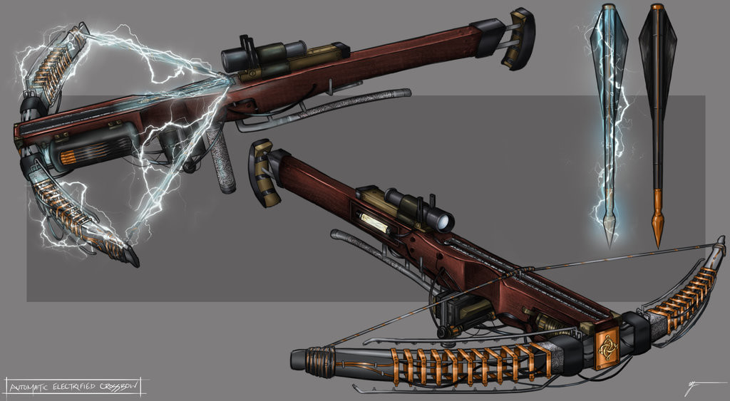 Danny hutchinson the order 1886 automatic electrified crossbow by invenatrix d8gzrch