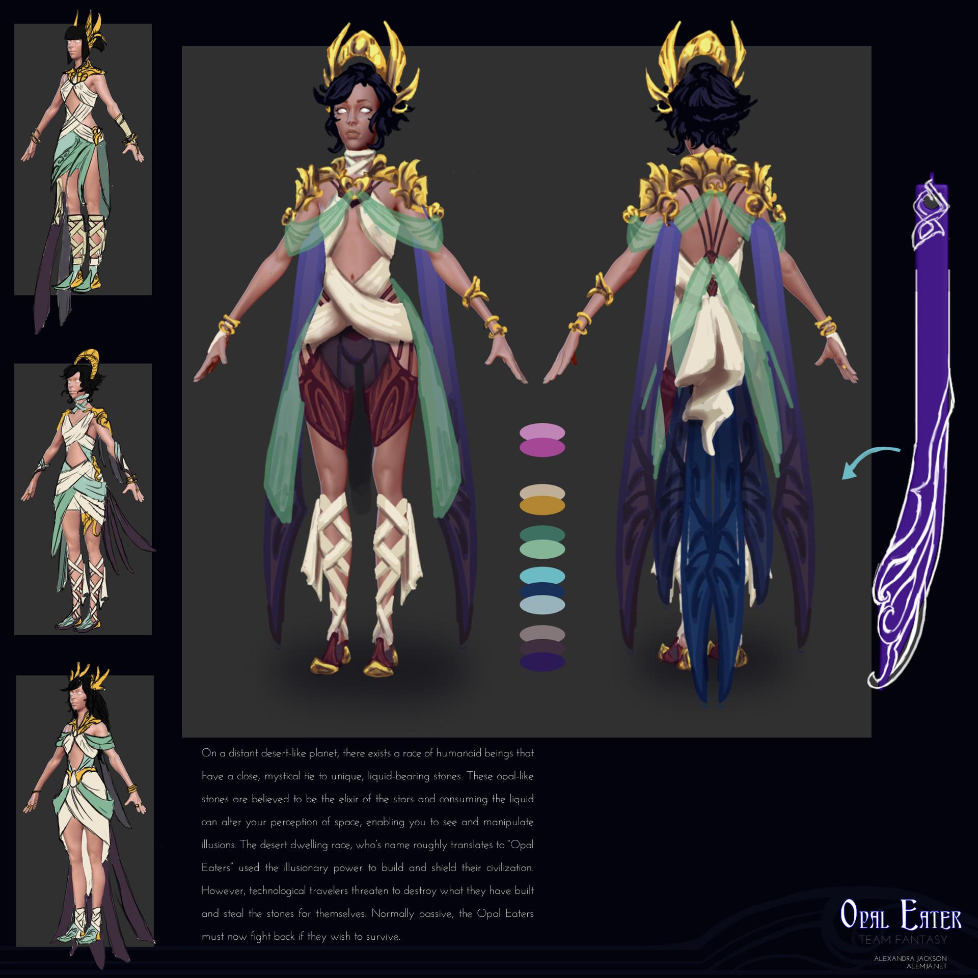 Alexandra jackson artwar opaleater concept