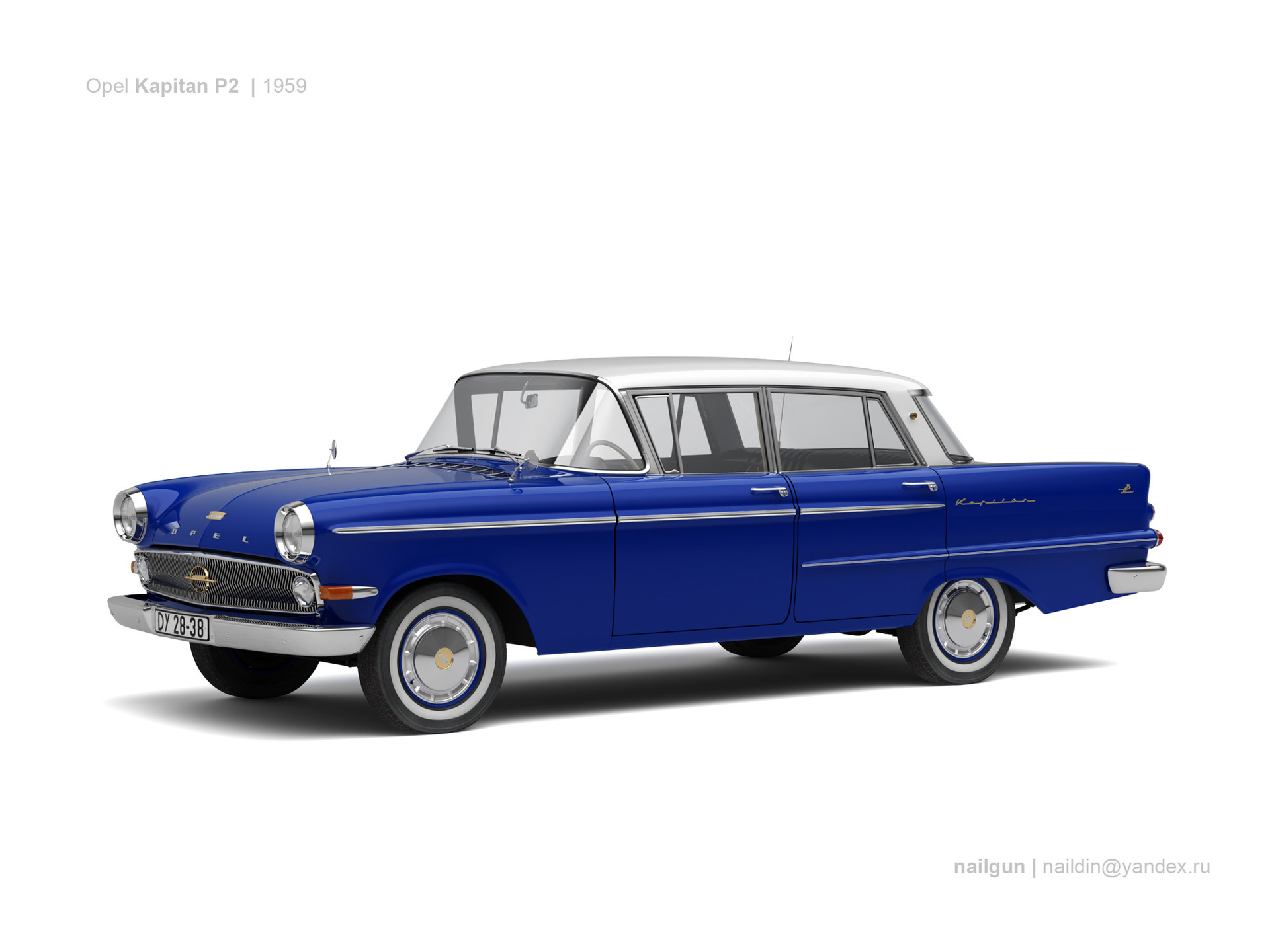 Nail khusnutdinov germany opel kapitan p2 1959 0