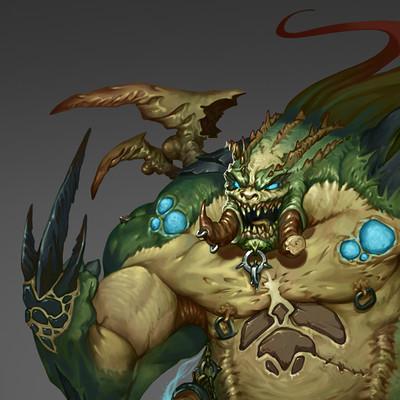Peter rocque monster concept final illustration