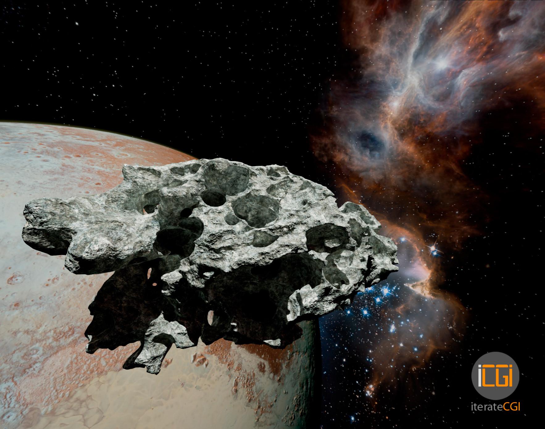 Johan de leenheer 3d asteroid game model 3