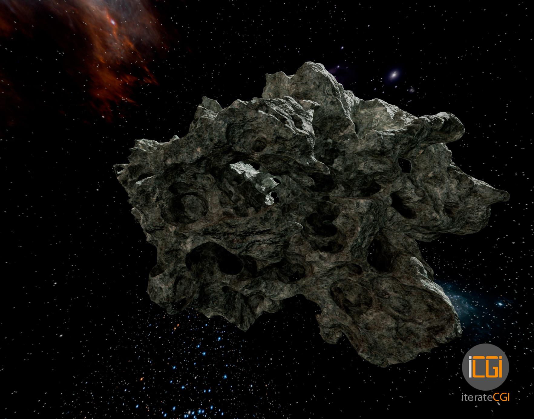 Johan de leenheer 3d asteroid game model 4