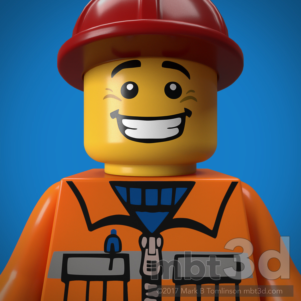 Construction Work Minifigure LEGO Minifigure