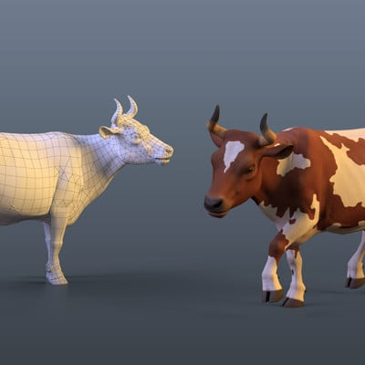 Sergey abanin cow low poly