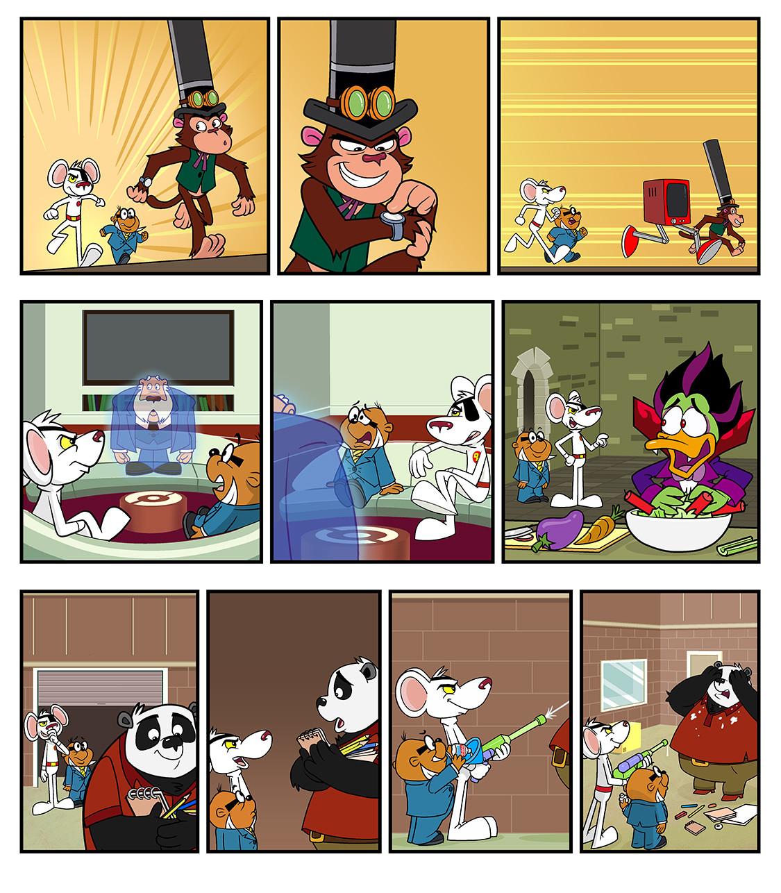 Danger Mouse - Gag Comic Strips