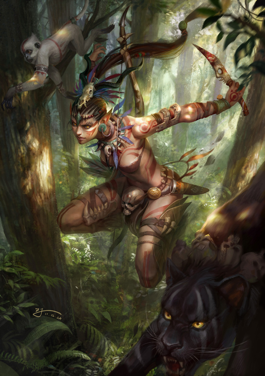 Artstation - Lady Of The Forest, Ji Zhang-9482