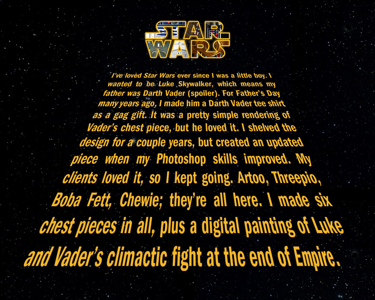 Steve rampton starwars about
