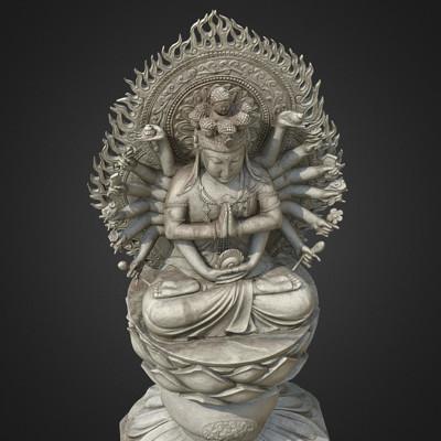 Vlx kuzmin avalokitesvara thousand armed goddess