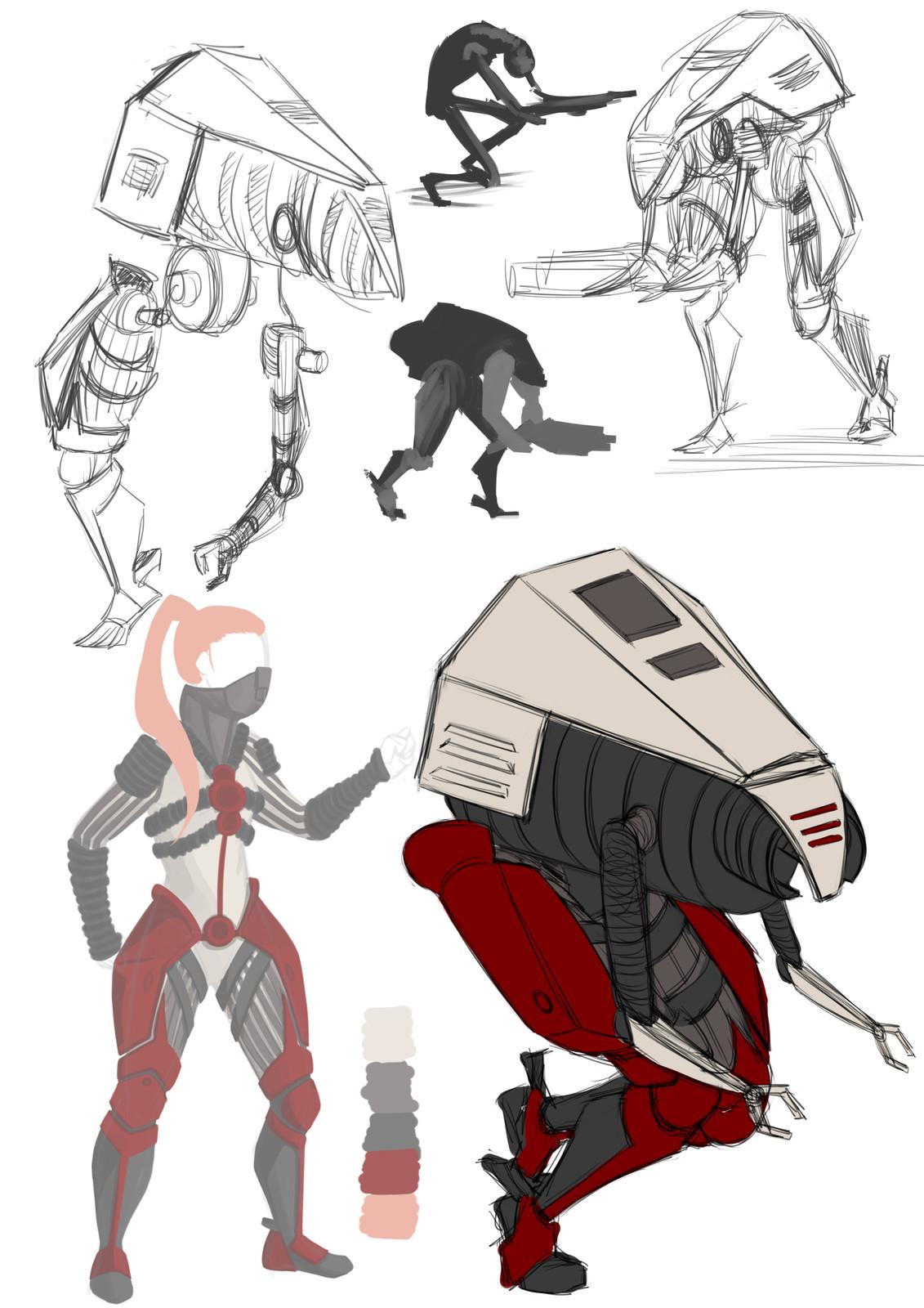 Mech concept sketches