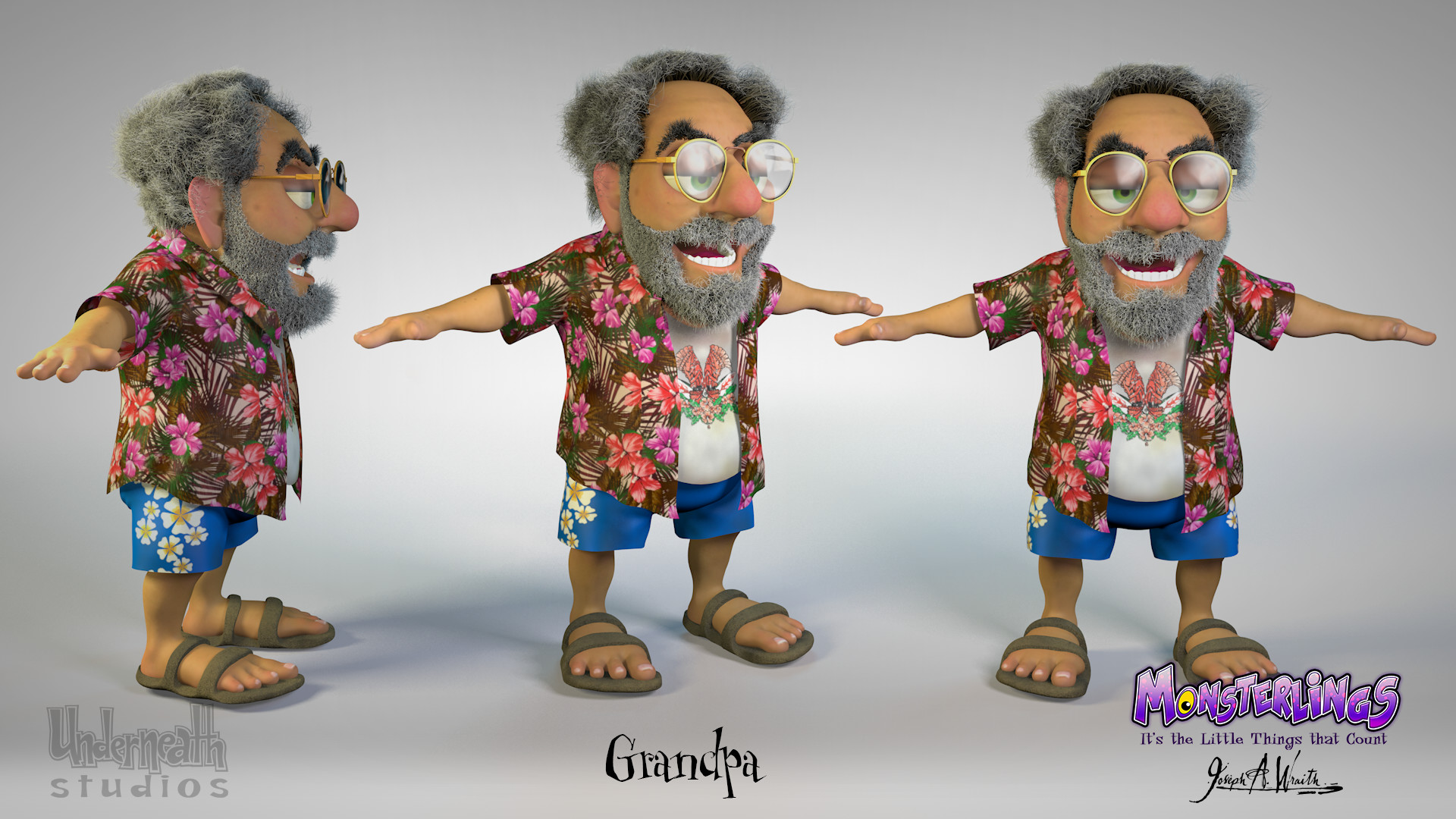Monsterlings - Grandpa Character