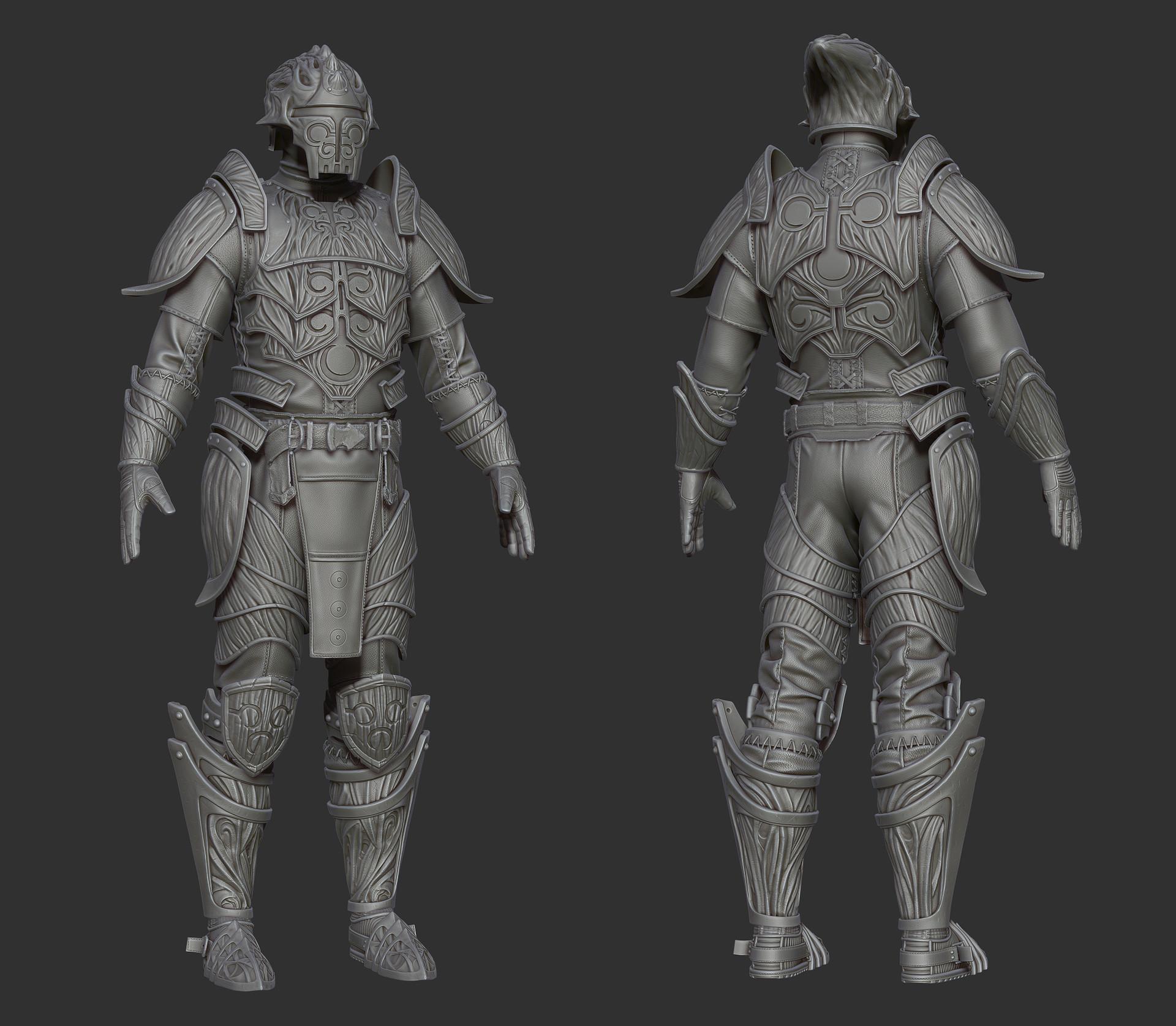 Ricardo graham hlaalu medium armor zbrush