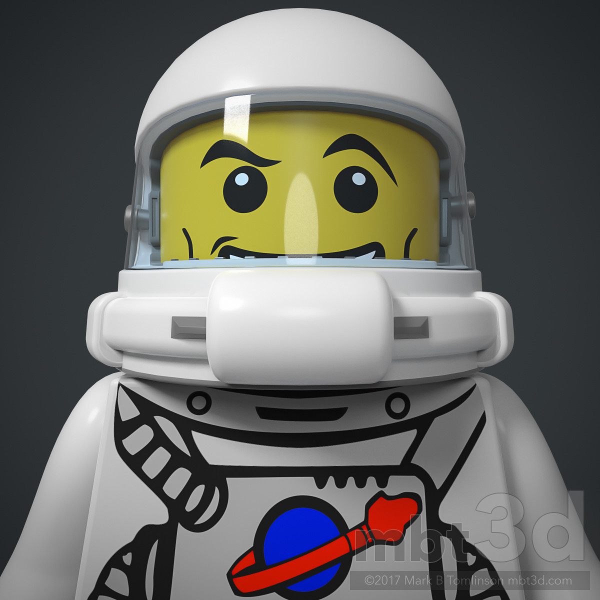 LEGO Spaceman Face