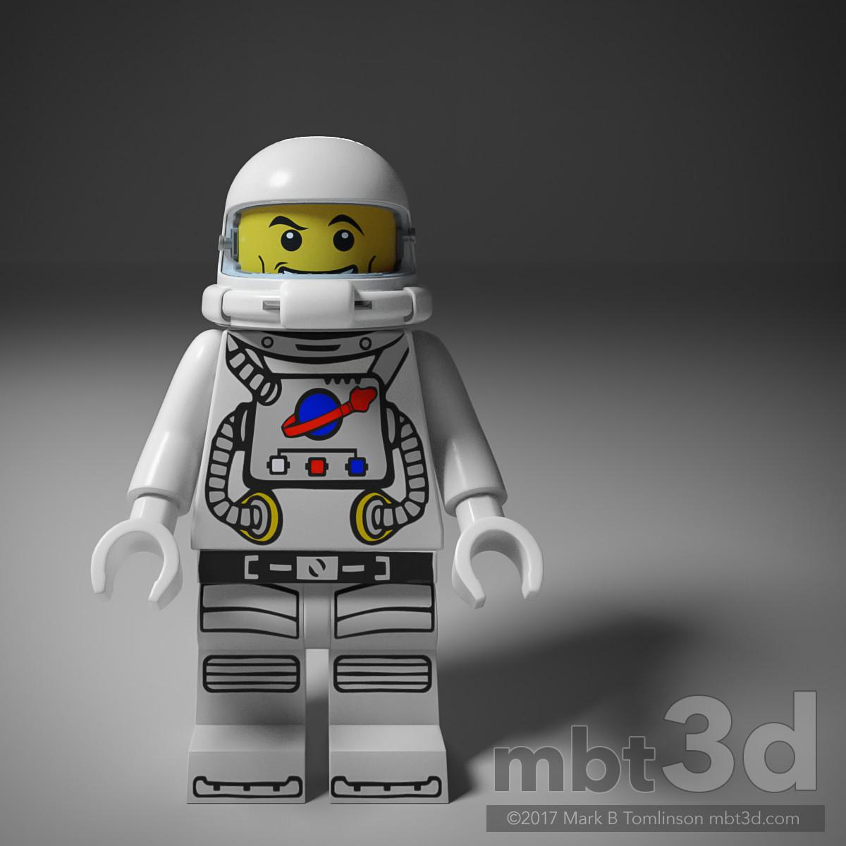 LEGO Spaceman Front Helmet