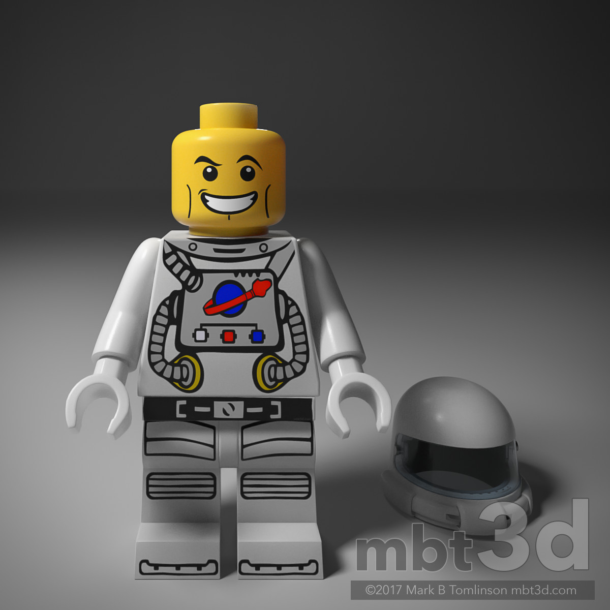 LEGO Spaceman no Helmet