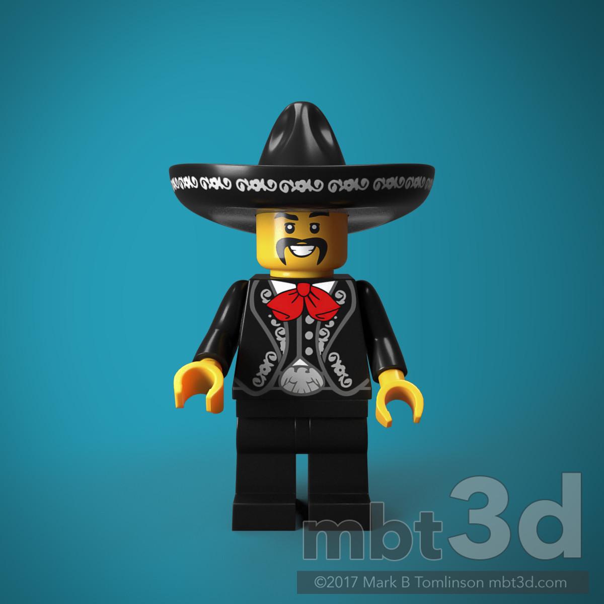 El Mexicano Minifigure Front