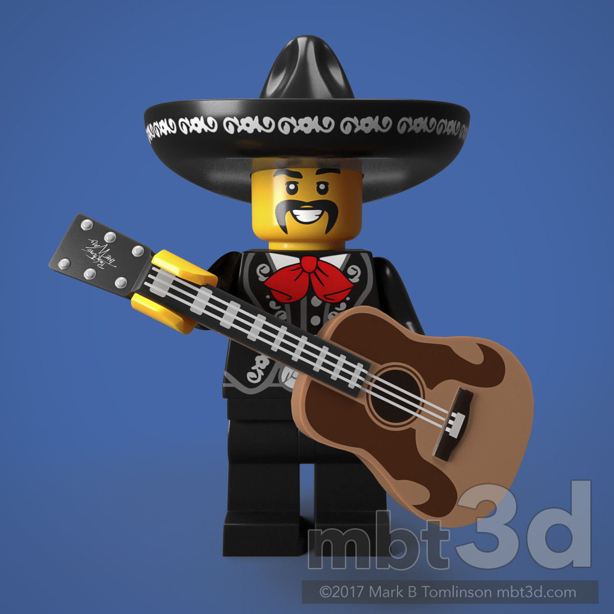 El Mexicano Minifigure Guitar