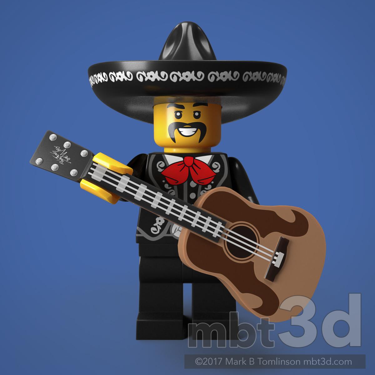 El Mexicano Minifigure Guitar