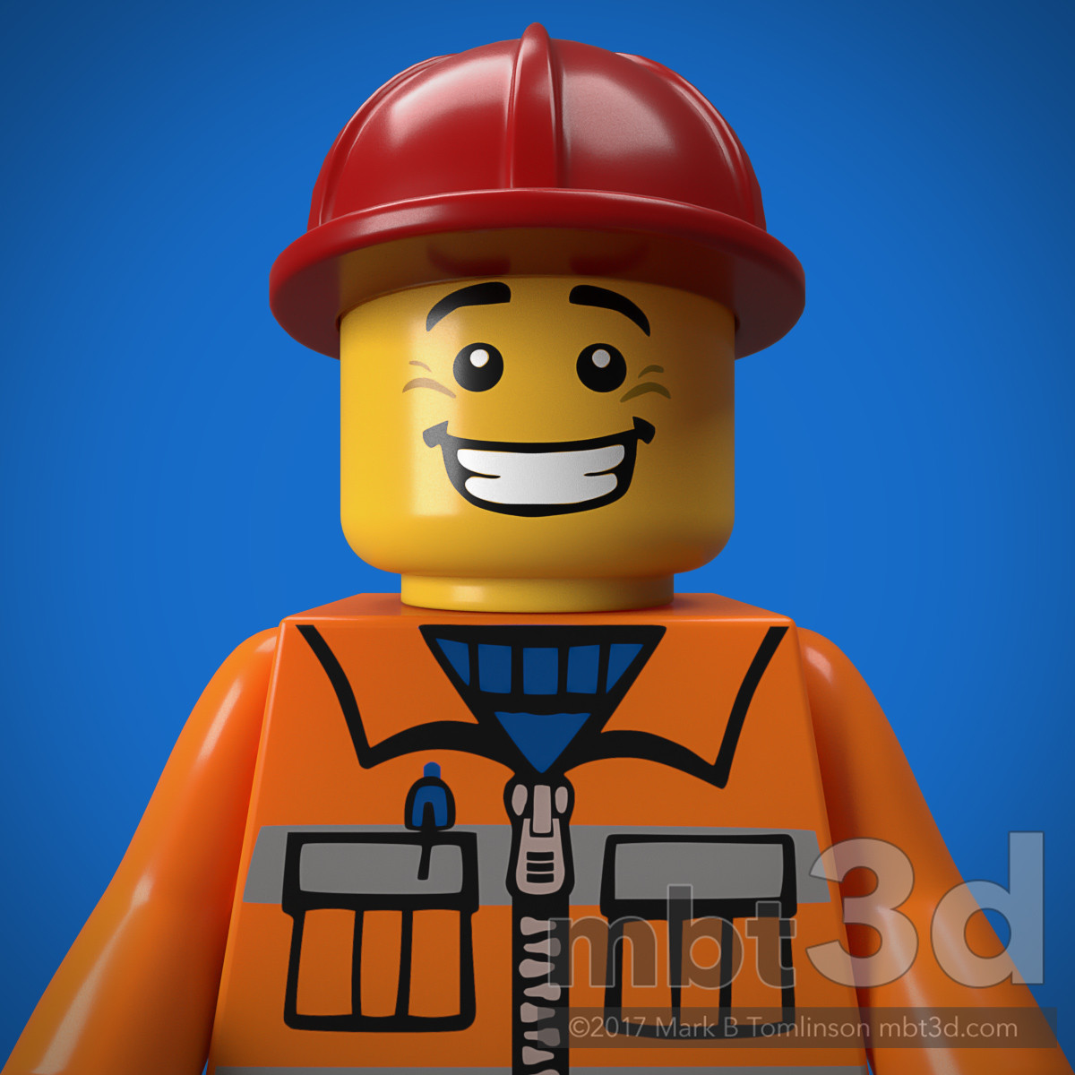 Construction Work Minifigure