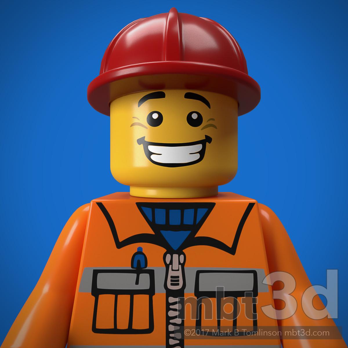 Construction Work Minifigure