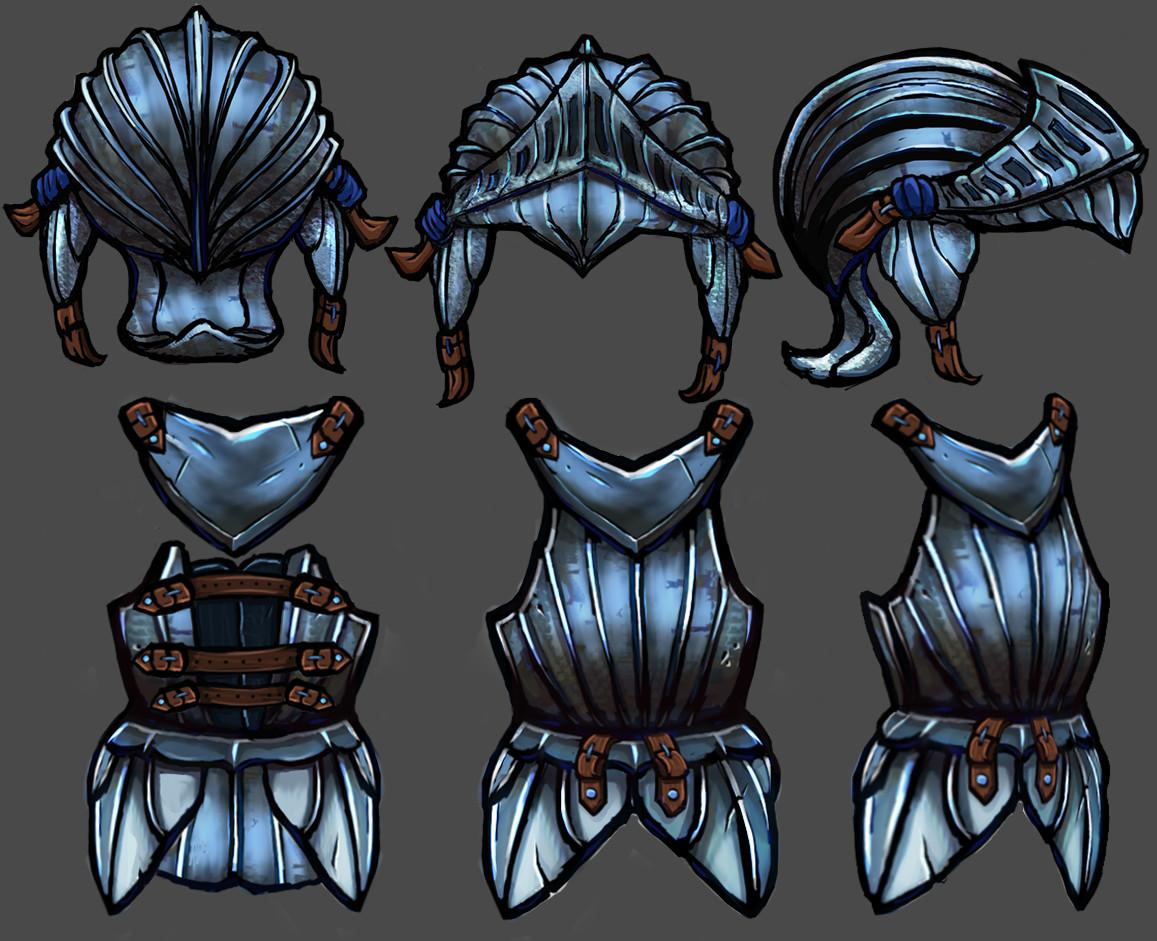 Vivien lulkowski steel armor set