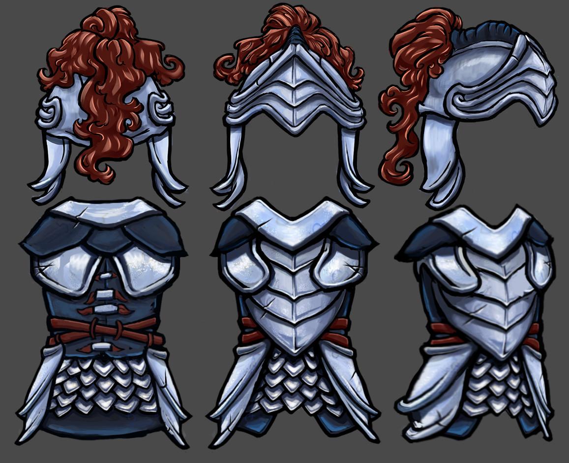 Vivien lulkowski silver armor set