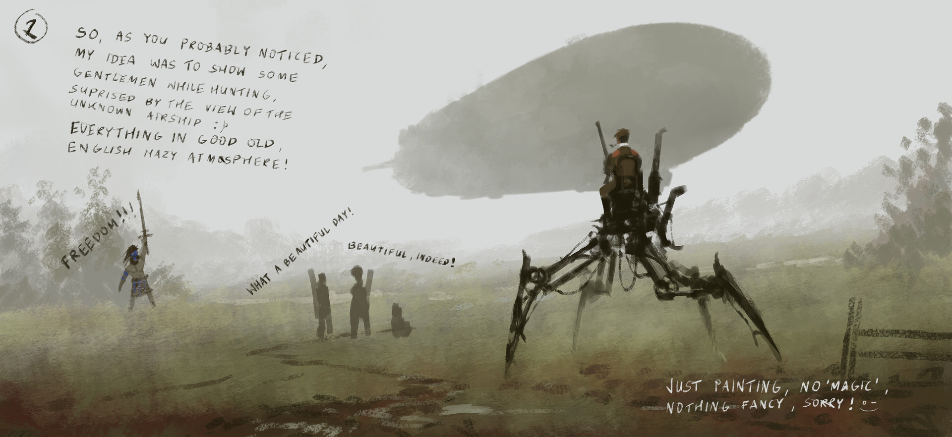 Jakub rozalski duck hunting process2