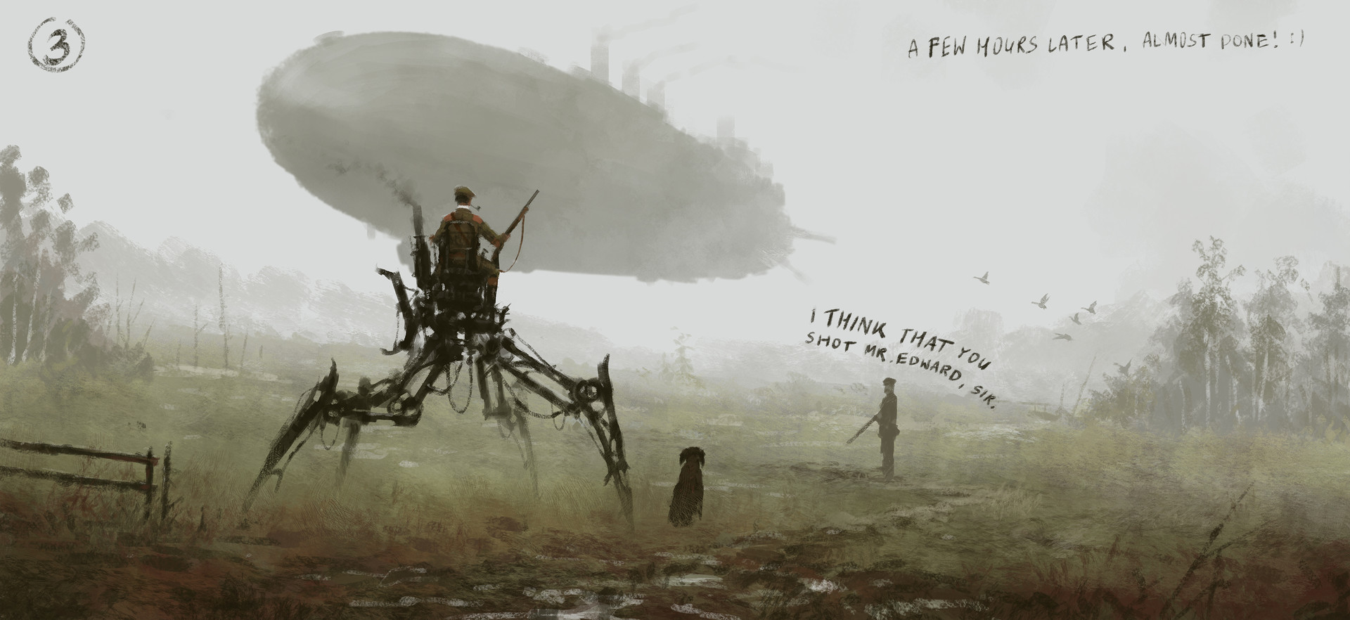 Jakub rozalski duck hunting process3