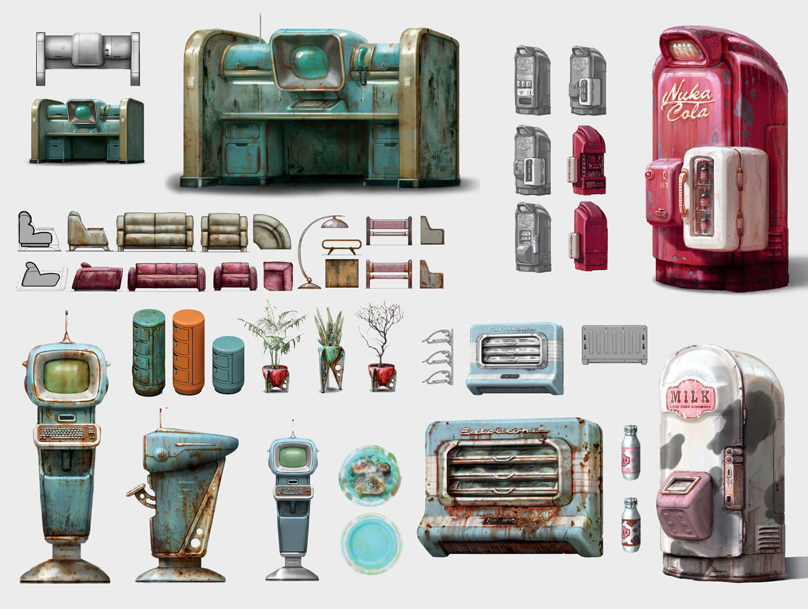 Ilya nazarov art of fallout 4 285 fridge concept art