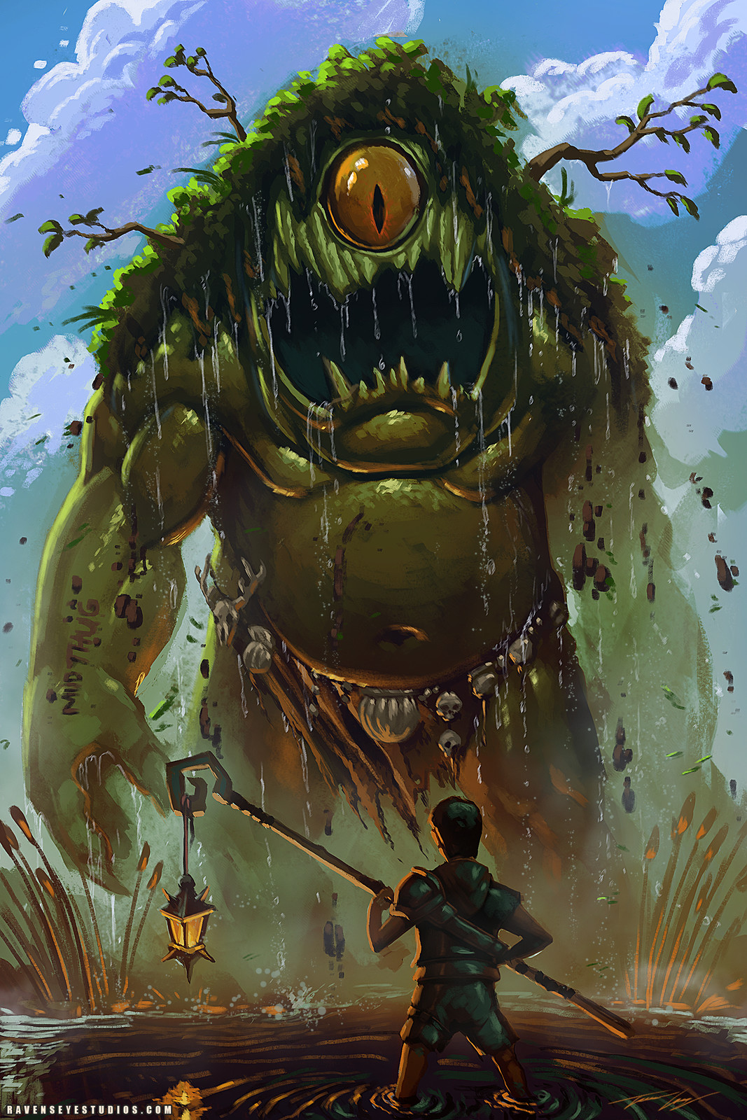 Swamp creature and the boy