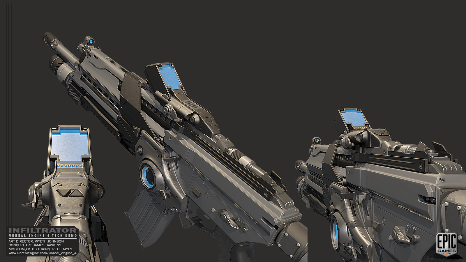 ArtStation - Infiltrator Unreal Demo - Weapons, Pete Hayes