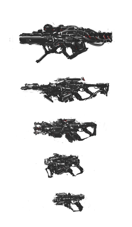 Gun speedpaints.