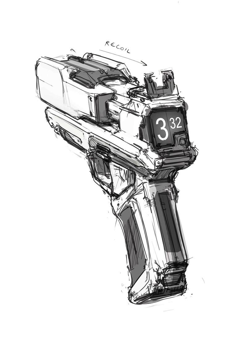 Idea for a pistol.