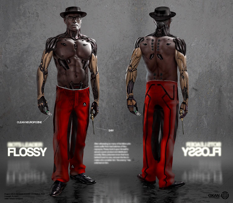 Yohann schepacz oxan studio flossy front back
