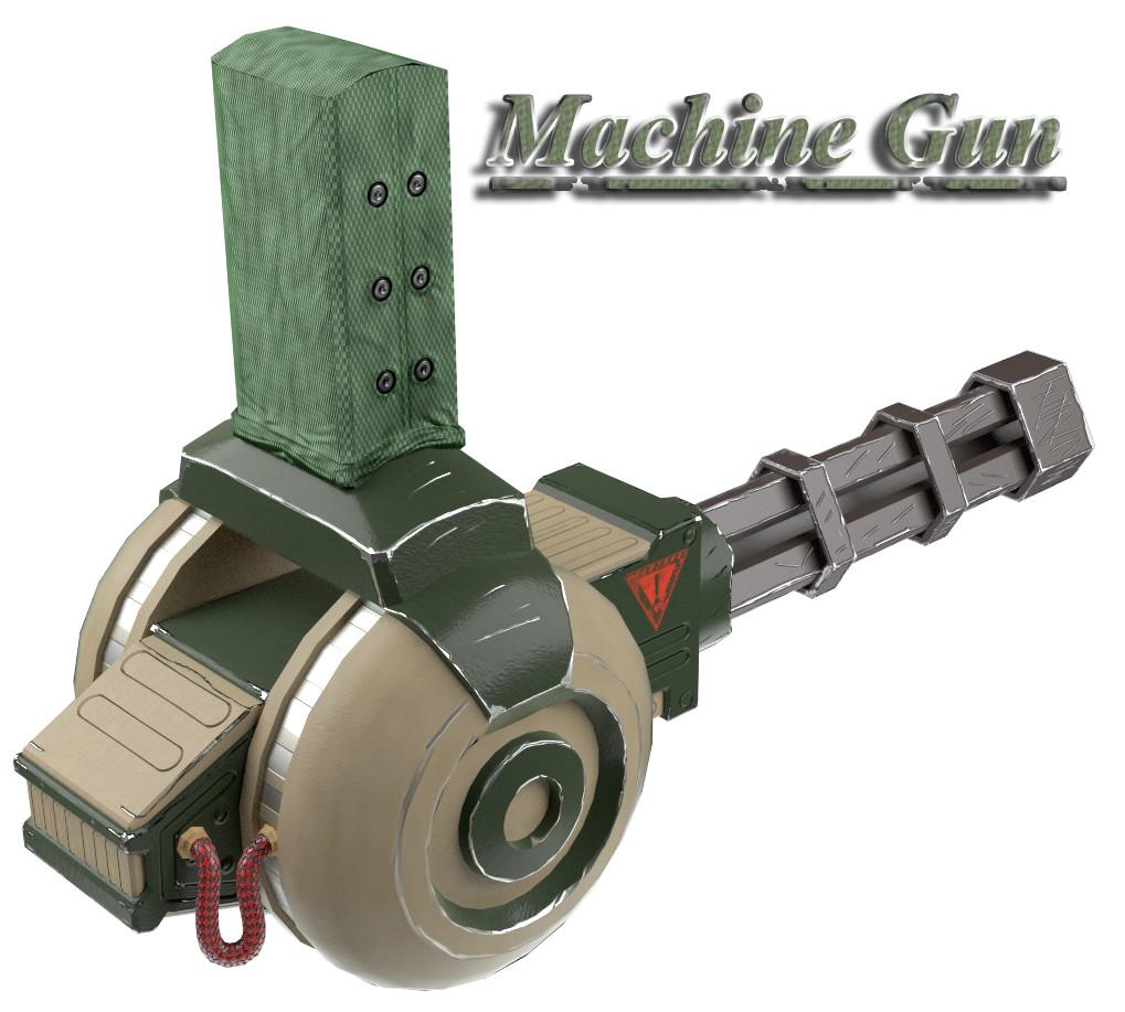 Marco ortolan machine gun render