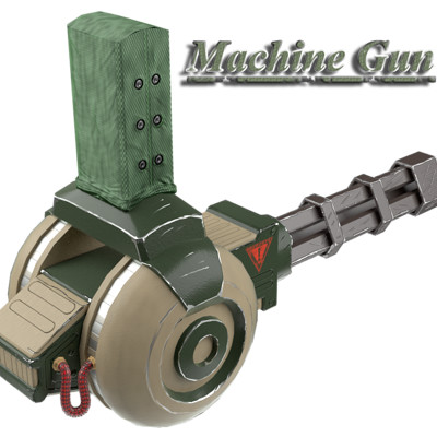 Marco ortolan machine gun render