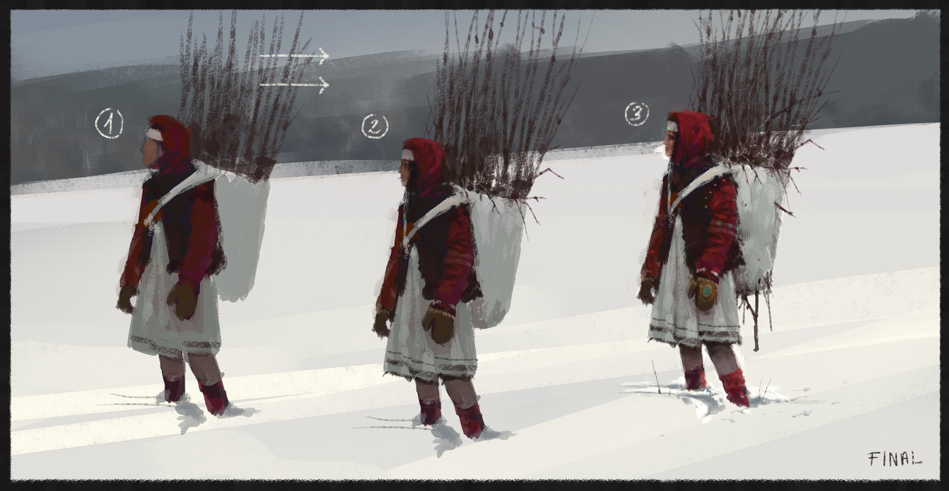 Jakub rozalski time to back home process3