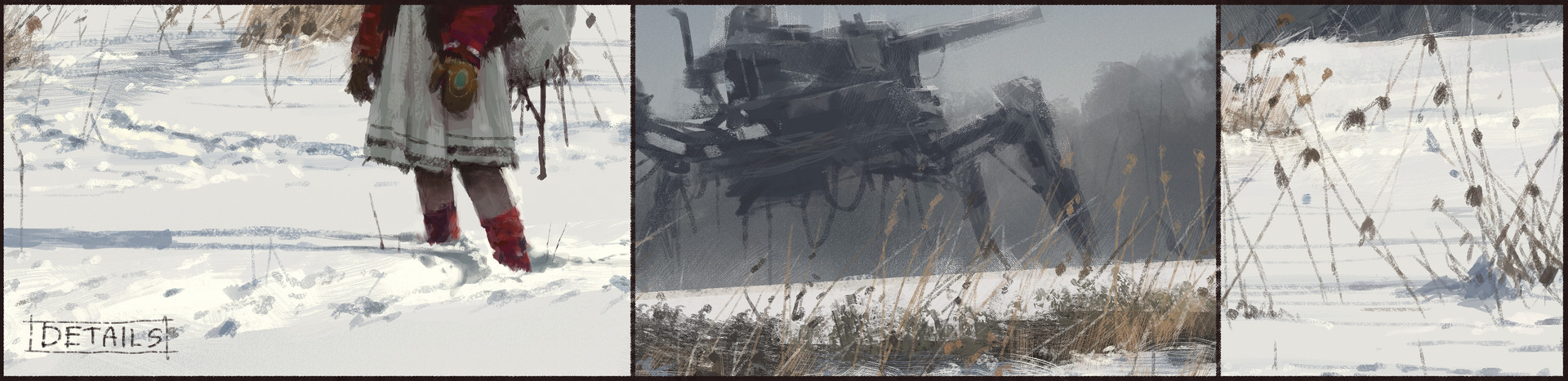 Jakub rozalski time to back home process4