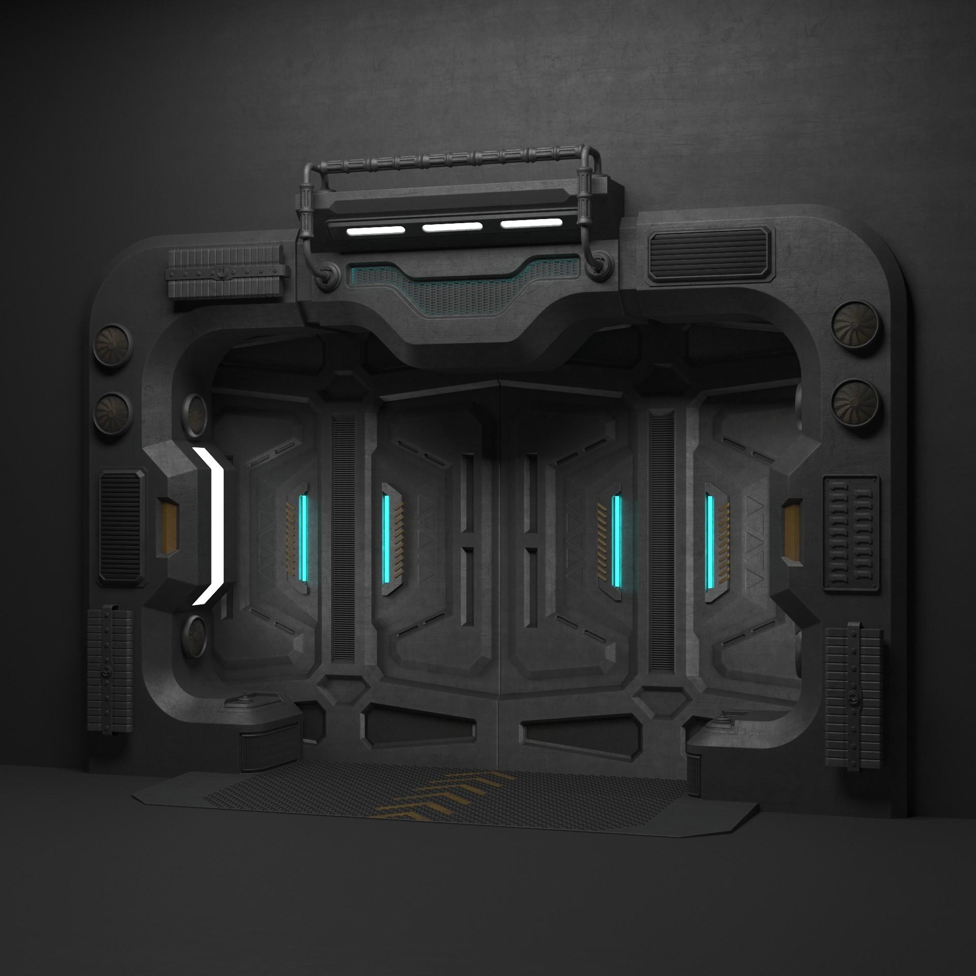 ArtStation - Sci Fi Door, Triod Team