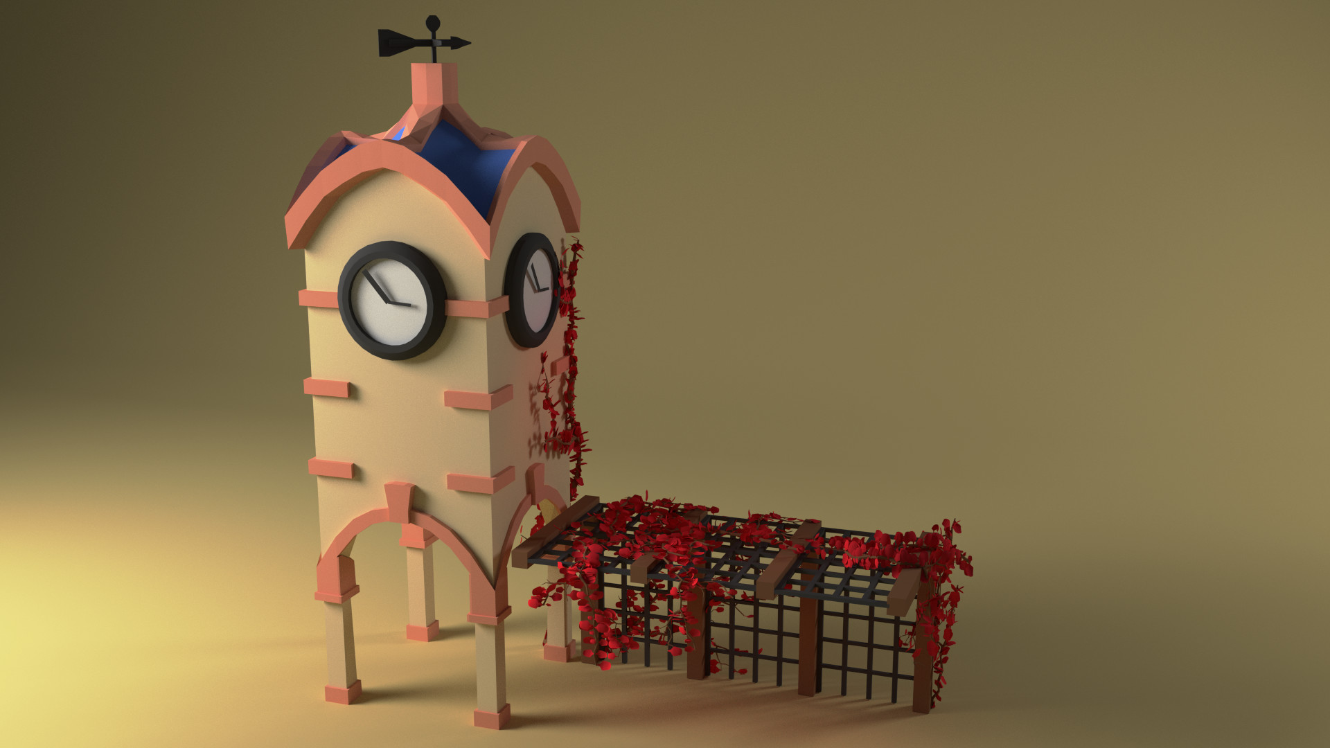 Andrew weir 3d low poly clock tower by piplington d8xl4nz